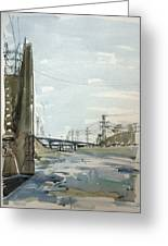 Concrete Los Angeles River Greeting Card
