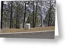 Concrete Pillar On A Highway Greeting Card