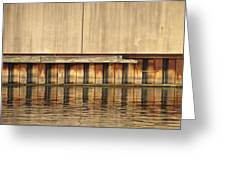 Concrete Wall And Water 1 Greeting Card