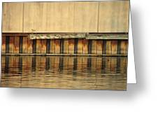 Concrete Wall And Water 2 Greeting Card