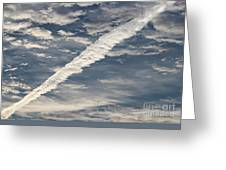 Condensation Trails - Contrails - Airplane Greeting Card
