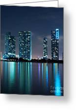 Condominium Buildings In Miami Greeting Card