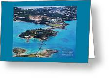 Coney Island Bermuda Aerial Greeting Card