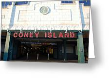 Coney Island Bmt Subway Station Greeting Card
