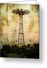 Coney Island Eiffel Tower Greeting Card