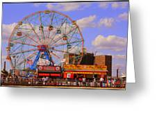 Coney Island Wonder Wheel Greeting Card