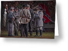 Confederate Civil War Reenactors With Rebel Confederate Flag Greeting Card