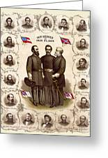 Confederate Generals And Flags Greeting Card