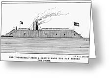 Confederate Ironclad, 1862 Greeting Card