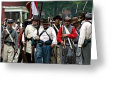 Confederate March Towards The River II Clr Greeting Card