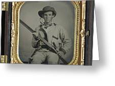 Confederate Soldier With Shotgun Greeting Card