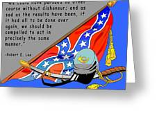 Confederate States Of America Robert E Lee Greeting Card by Digital Creation