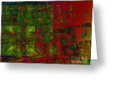 Confetti - Abstract - Fractal Art Greeting Card