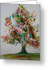 Confetti Tree Greeting Card