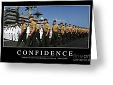 Confidence Inspirational Quote Greeting Card by Stocktrek Images