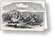 Conflict Between The 10th Hussars And Cossacks Greeting Card