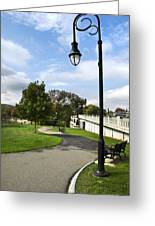 Confluence Park Binghamton Ny River Trail Greeting Card