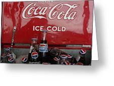 Confused Cola Greeting Card