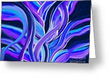 confusion Blue Greeting Card