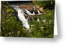 Conglomerate Falls Greeting Card by Thomas Pettengill