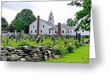 Congregational Church Cemetery Hollis Nh Greeting Card by Janice Drew