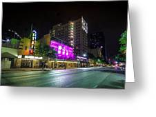 Congress Street In Downtown Austin Greeting Card