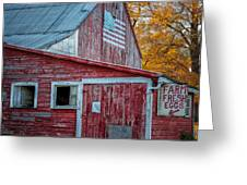 Connecticut Farmstand Greeting Card
