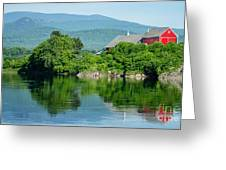 Connecticut River Farm II Greeting Card