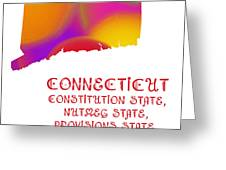 Connecticut State Map Collection 2 Greeting Card