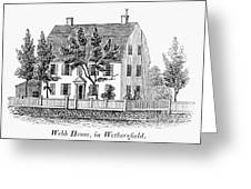Connecticut Webb House Greeting Card