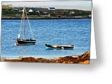 Connemara Boats Greeting Card