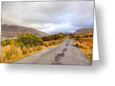 Connemara Roads - Irish Landscape Greeting Card by Mark Tisdale