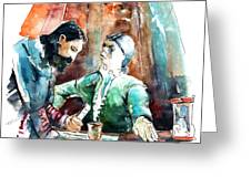 Conquistadores On The Boat In Vila Do Conde In Portugal Greeting Card