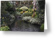 Conservatory In Autumn Greeting Card