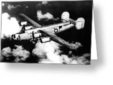 Consolidated B-24 Liberator Heavy Bomber Greeting Card