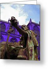 Constantine The Emperor At Yorkminster Greeting Card