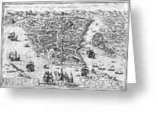 Constantinople, 1576 Greeting Card