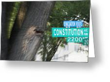 Constitution Ave 2200 Greeting Card by Angelia Hodges Clay
