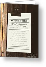 Constitution Death Notice Greeting Card