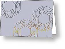 Construct Number Four Greeting Card