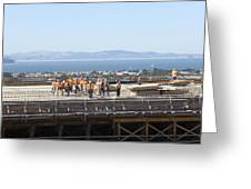Construction Continues On The Last Few Feet Of The New Oakland Bay Bridge Greeting Card