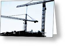 Construction Cranes Greeting Card
