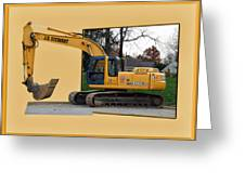 Construction Equipment 01 Greeting Card