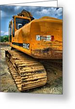 Construction Excavator In Hdr 1 Greeting Card
