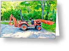 Construction Machinery Equipment 1 Greeting Card
