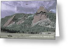 Construction Of The Flatirons - 1931 Greeting Card