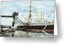 Construction Of Tower Bridge Greeting Card