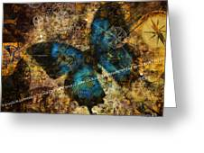 Contemplating The Butterfly Effect  Greeting Card