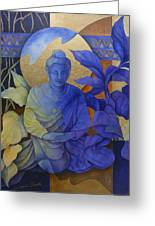 Contemplation - Buddha Meditates Greeting Card