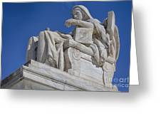 Contemplation Of Justice 1 Greeting Card
